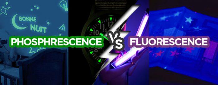 Quelle différence entre phosphorescence et fluorescence
