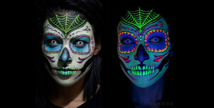 Halloween : 6 idées de maquillage Fluorescent effrayants !