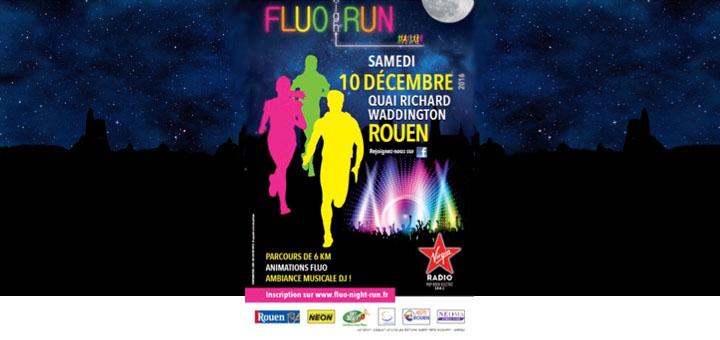 Course fluo de nuit - Fluo Run Night à Rouen