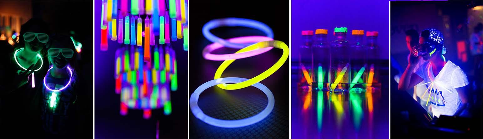 accessoires lumineux fluorescent pour vos soirées