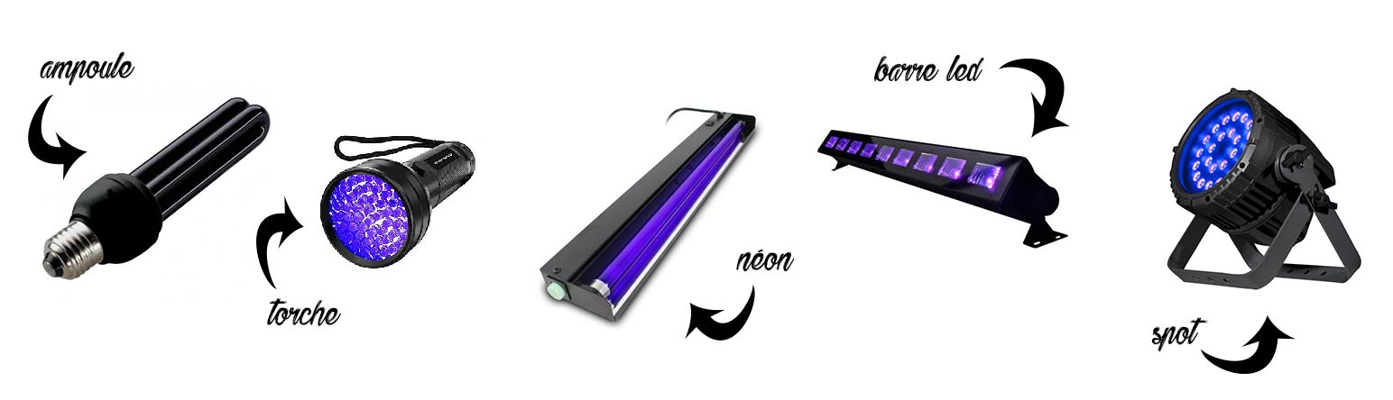 Comment choisir son éclairage lumière noire UV pour soirée blackout