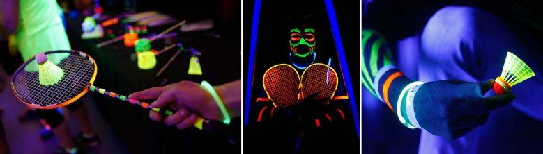blackminton sport fluo