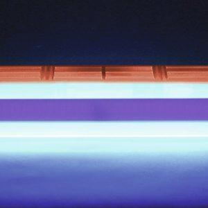 Tube néon lumière noire sur réglette 45cm