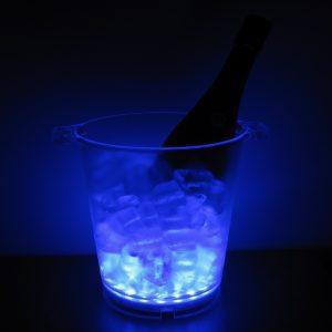 Seau à glace lumineux bleu