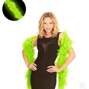 boa plumes vert fluo accessoire soiree fluo