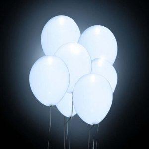 ballon lumineux blanc à led