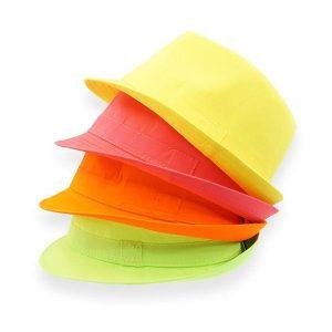 Chapeau en tissu fluo