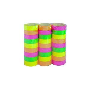 Lot de serpentin papier fluo pour décoration table fete ballons soirée fluo